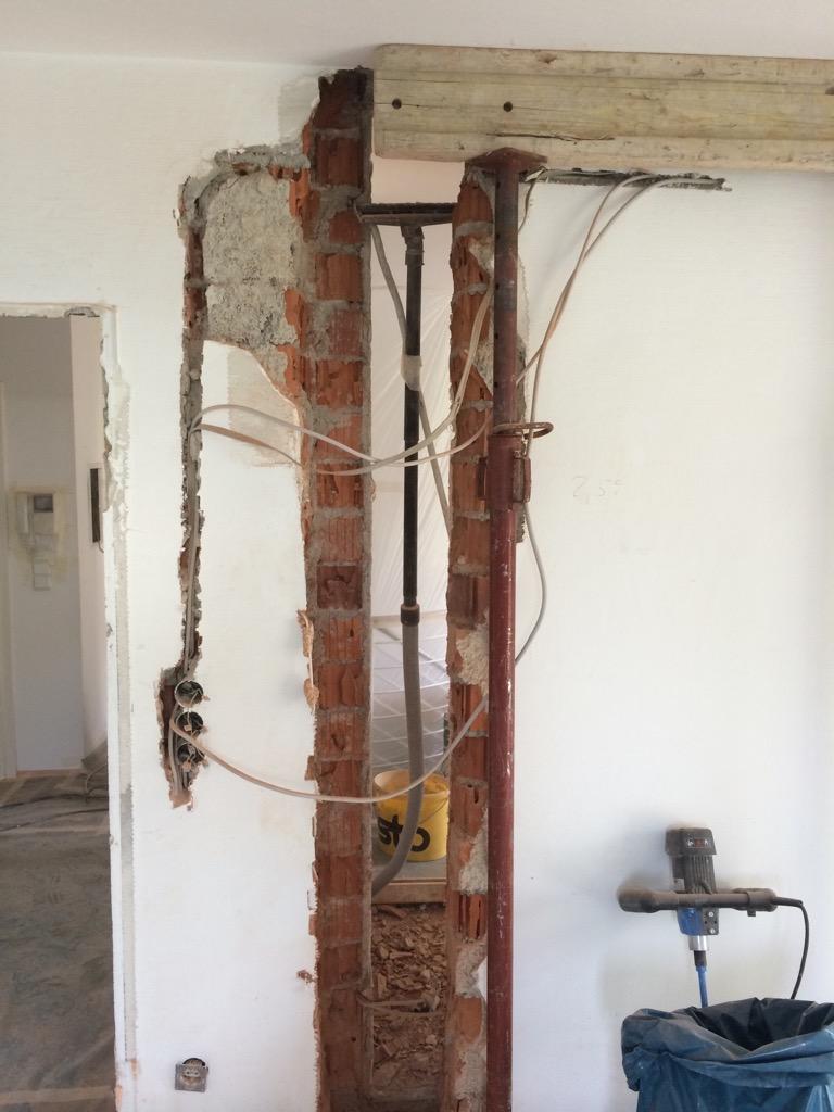 Entfernen einer tragenden Wand   Altbausanierung Christian Lehmann